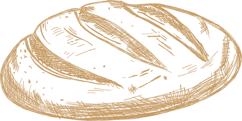 Dein Handwerksbäcker Brot gezeichnet