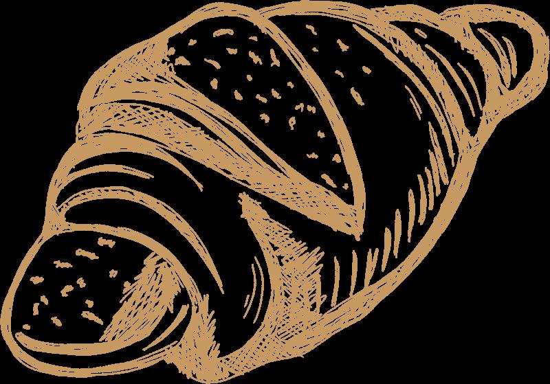 Dein Handwerksbäcker Gebäck gezeichnet